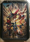 Incredibly Fearless Canvas Giclee Re6/50 Marvel Hand Signed By Stan Lee W Coa