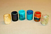 Shot Glasses Lot Unique Pour Resin Art Project Funky Gift Bright Weird B Box Hx