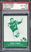 1961 Lake To Lake Dairy Gb Packers 6 Emlen Tunnell Short Print Psa 8.5+ Pop 2