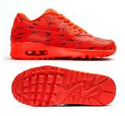 New Nike Air Max 90 Se Gs Kids/youth Shoes, Crimson/black, 859560-600, Size 5.5