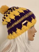 Hand Knits 2 Love Beanie Hat Slouch Designer Fan Lakers Basketball Sports Team