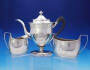 Robert And David Hennell English Georgian Sterling Silver Coffee Set 3pc 3743