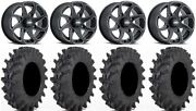 Itp Twister 14 Wheels Milled 32x9.5 Outback Max Tires Can-am Maverick X3