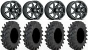 Itp Twister 14 Wheels Milled 32x9.5 Outback Max Tires Rzr Xp 1000 / Pro Xp