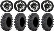 Itp Ss316 14 Wheels Black Ops 32x9.5 Outback Max Tires Polaris Rzr Ts / Rs1