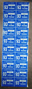 Texas Expired 1993 License Plate Registration Stickers Nos
