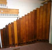 Antique Set Of 17 Large Wooden Organ Pipes Ca. 1929 Awesome Decorator Items