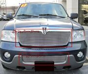 Billet Grills Insert Fits 04 Lincoln Navigator Front Grille Aluminum Grill Combo