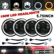 4x5-3/4 5.75 Led Projector Headlight Beam Drl Angle Eye For Chevy Corvette