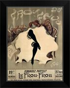 Le Frou Frou, Vintage Poster, By Lucien Black Framed Wall Art Print, Fashion