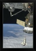 Space Shuttle Endeavour A Soyuz Black Framed Wall Art Print Outer Space Home