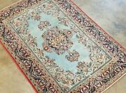 Antique 1930 Hand-knotted Unique Turkish Herikeh Vintage Wool Rug 3and0394x5and0392and039