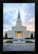 Houston Texas Temple Red And Blue Black Framed Wall Art Print Houston Home