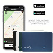 Innway Card Ultra Thin Rechargeable Bluetooth Wallet Gps Locator Tracker Finder