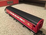 Lionel 6-9592 Southern Pacific Daylight Aluminum Passenger Car 15andrdquo End Caps Red