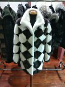 Real Mink Sections Jacket Small