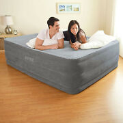 Air Bed Mattress Queen Size 22 With Built-in Electric Pump Raised Intex Aerobed
