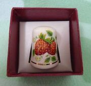 Strawberries Thimble Gold Rim Palissy A Division Royal Worcester Spode England