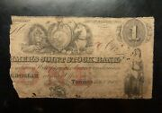 1849 1 Canada Farmers Joint State Bank Toronto Very Scarce Lion And Unicorn