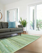 Capel Rugs Harborview Cross Sewn Wool Blend Sage Green Country Braided Rug