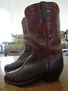 Vintage Lucchese Sharkskin Boots Made In San Antonio Texas - Menand039s 9.5