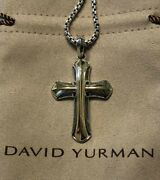 Discontinued David Yurman Amulet Armory Cross With 18k Yellow Gold With Chain