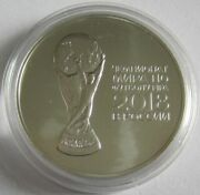 Russia 3 Roubles 2018 Football World Cup Trophy 1 Oz Silver