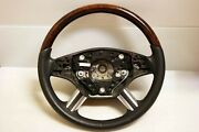 2006-09 X164 Mercedes Gl450 Gl500 R350 R500 Ml350 Ml500 Steering Wheel Wood Oem