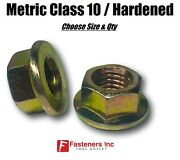 Metric Hex Flange Nuts Class 10 Grade 8 Zinc Yellow Choose Size And Qty