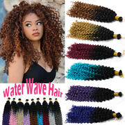 100 Natural Crochet Deep Wave Curly As Human Hair Extensions Woman Water Wave