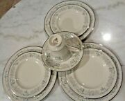 8 Pcs Pickard China Morning Mist Floral Set W 3 Bread And Butter And 3 Salad And 1 Cup