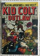 Golden Age Kid Colt Outlaw 21 Vg 4.0  Card Table Gun Fight Cover