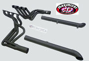 Maximizer Long Tube Header W/res. Side Pipes Fits For And03965-and03982 Corvette Big Block