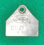 1965 Ford Mustang Fastback Coupe Convrt Orig 289 2v M/t Carburetor Id Tag C5zf-g