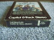 1976 Beatles 8 Track Tape Rock And Roll Music Capital Stereo Black Sealed 125