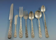 Repousse By Kirk Sterling Silver Flatware Set For 8 Service 66 Pieces