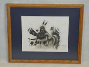 Tim Saupitty Comanche Indian Warrior Limited Edition Hand Signed Pirnt Art Artwo