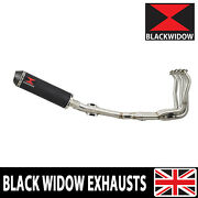 Kawasaki Z900rs And Cafe 4-1 Exhaust System Round Black + Carbon Muffler Bc37r