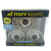 Morfboard Motion Powered Light Up Scoot Wheels New Unopened Free Shipping