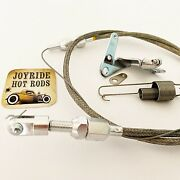 36 Throttle Cable- Cut To Length- With 4brl Carb Bracket And Return Spring Kit