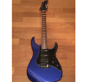 Rare Fernandes Deep Midnight Blue Electric Guitar Dot Inlay Shipped From Japan