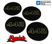 1985-1987 Olds Cutlass 442 Wheel Center Cap Decal Set Super Stock Ii Iii Rim
