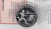2003 Tokelau Olympic Games Silver Proof Crown With Capsule And Certificate