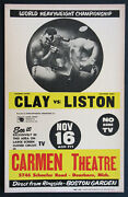 Cassius Clay Vs. Sonny Liston Vintage 1964 Boxing Fight Poster