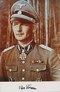 Otto Kumm Signed Color Photo. Great Quality Swords Winner