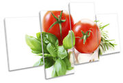 Fresh Tomatoes Kitchen Print Multi Canvas Wall Art Picture Red