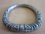 Antique Chinese Silver Ornately Carved Cuff Bracelet 2