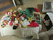 Christmas Miscellaneous Lot , Stockings 2 ,15 Total Items , Vintage , Supplies