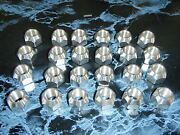 Boat Trailer Stainless Steel Lug Nuts 1/2-20 Set Of 24 Lugs 004258 Open End S/s