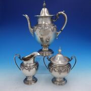 Stradivari By Wallace 3 Piece Sterling Silver Coffee Set Number 6350 4109
